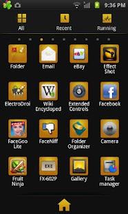 GO Launcher EX Theme BlackGold- screenshot thumbnail