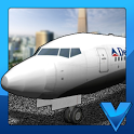 Airport 3D airplane parking icon