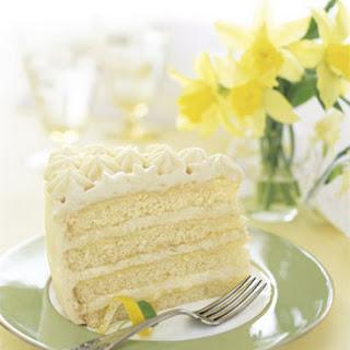 Lemon Layer Cake with Lemon Curd and Mascarpone.