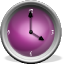 Purple Analog Clock Set