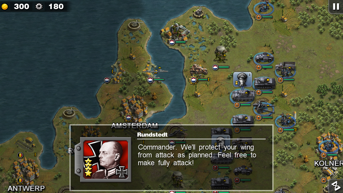 Glory of Generals- screenshot