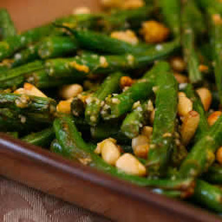 Stir-Fried Green Beans with Lemon, Parmesan, and Pine Nuts.