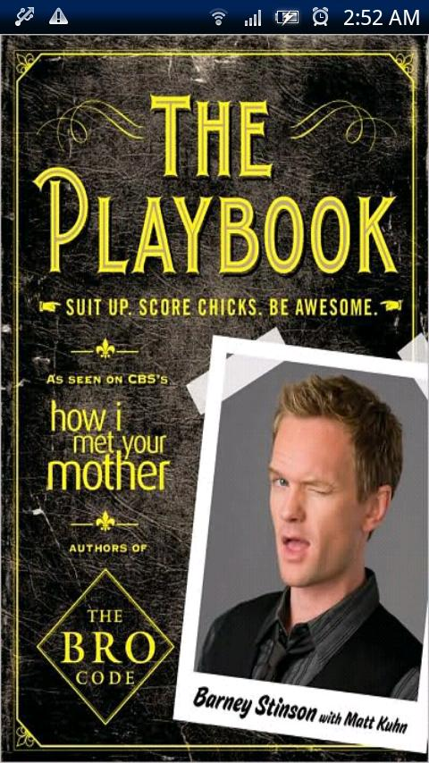 Barney-Stinson Playbook - screenshot
