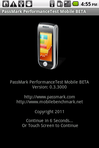 PassMark PerformanceTest- screenshot