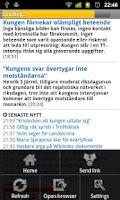 Screenshot of Svenska Tidningar