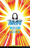 Screenshot of Steve Aoki's Aokify