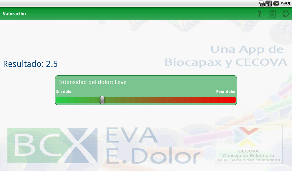 BCX EVA ESCALA DEL DOLOR- screenshot