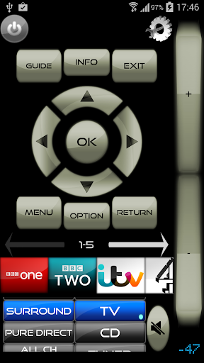 Remote for Virgin Media+TV+DVD