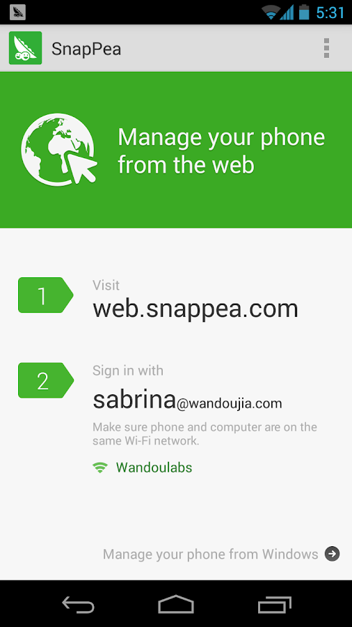 SnapPea - screenshot
