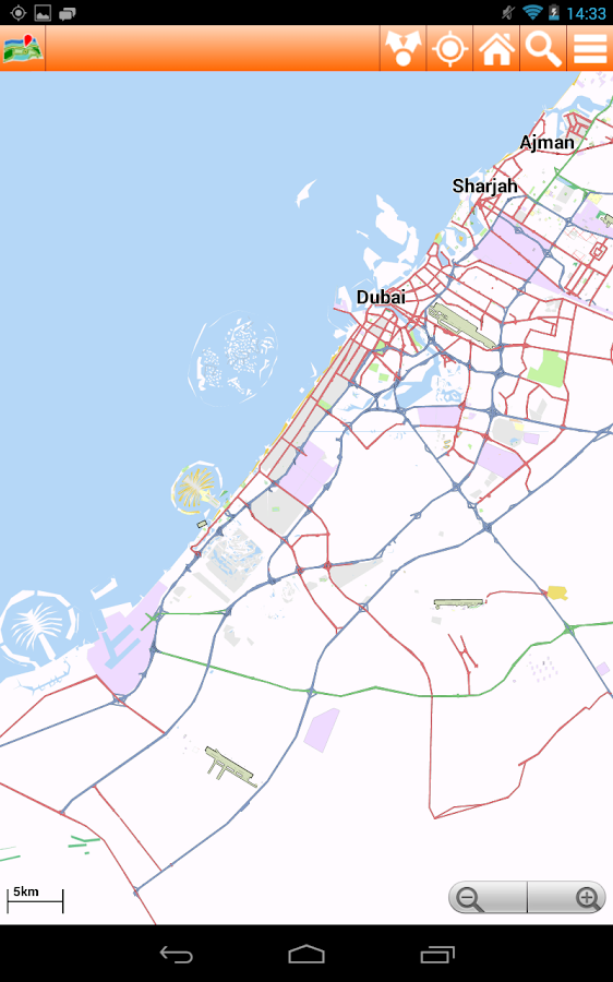 Dubai Offline mappa Map- screenshot