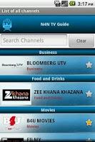 Screenshot of TV Guide India (N4N)