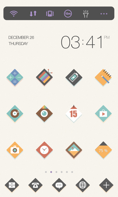 Simple Diamond dodol theme - screenshot