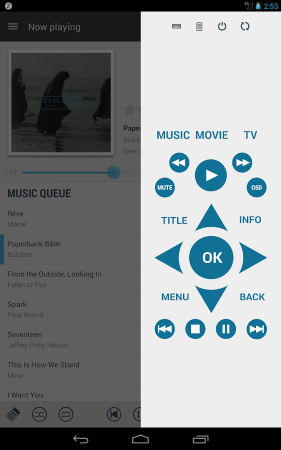Music Pump XBMC / Kodi Remote - screenshot