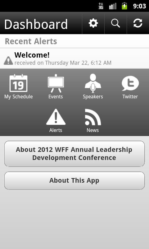 2012 WFF Annual Conference - screenshot
