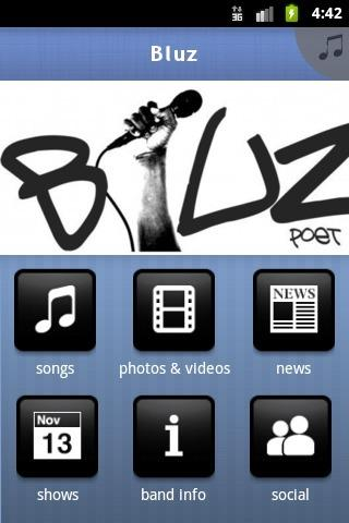 Bluz - screenshot