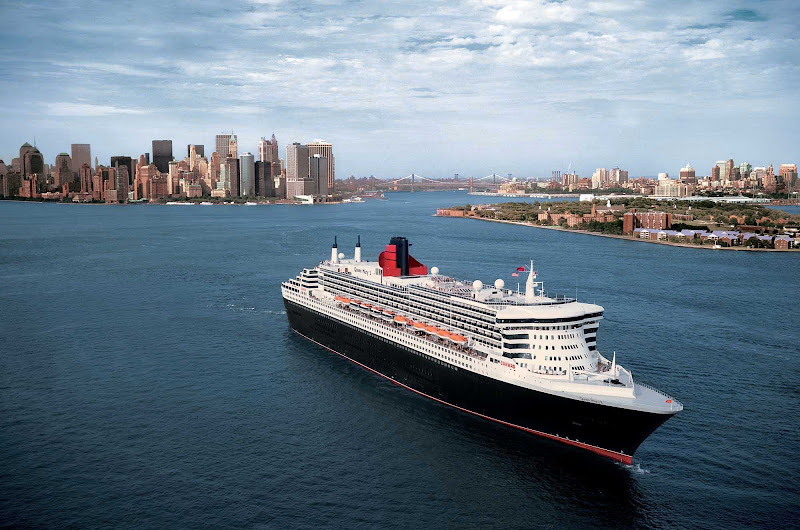Get close-up views of the Manhattan skyline when Queen Mary 2 sails through New York Harbor.