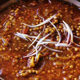 Lentils With Tamarind Sauce