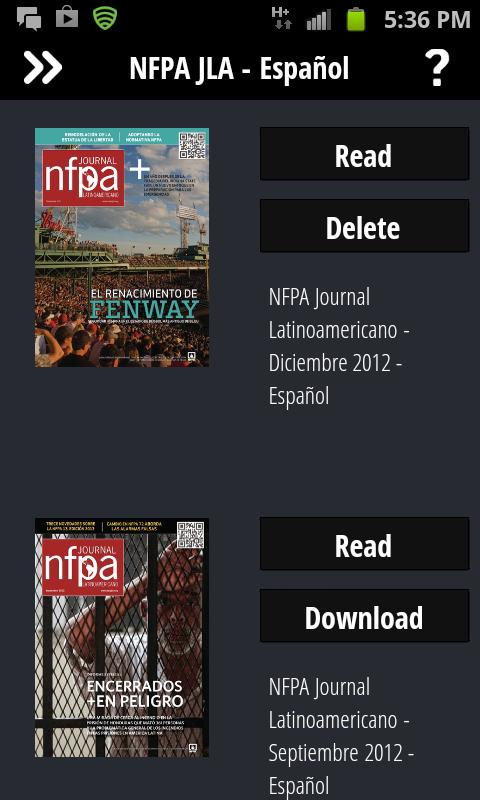 NFPA Journal Latinoamericano - screenshot