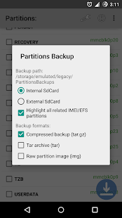 Partitions Backup & Restore: miniatura de captura de pantalla