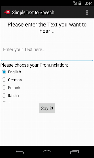 Simple Text To Speech