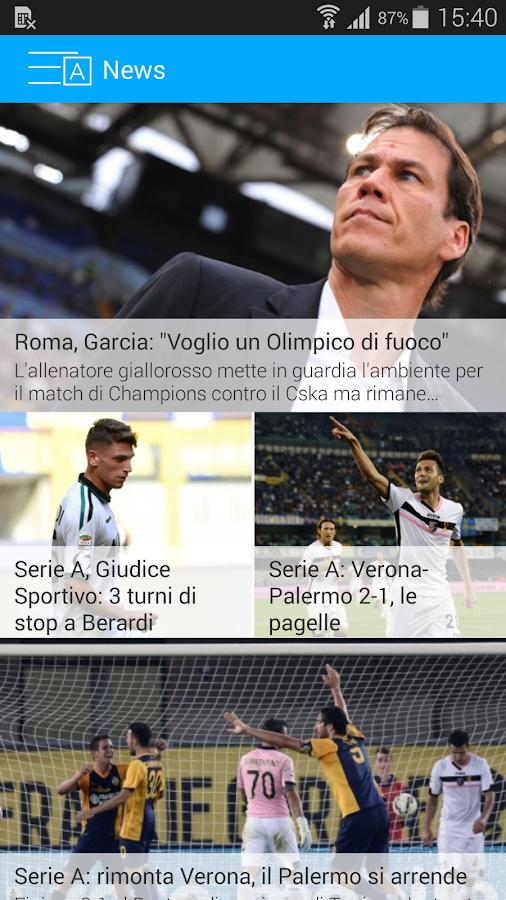 Diretta calcio - screenshot