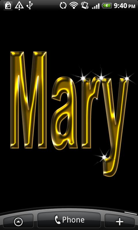 Mary Gold Name - screenshot