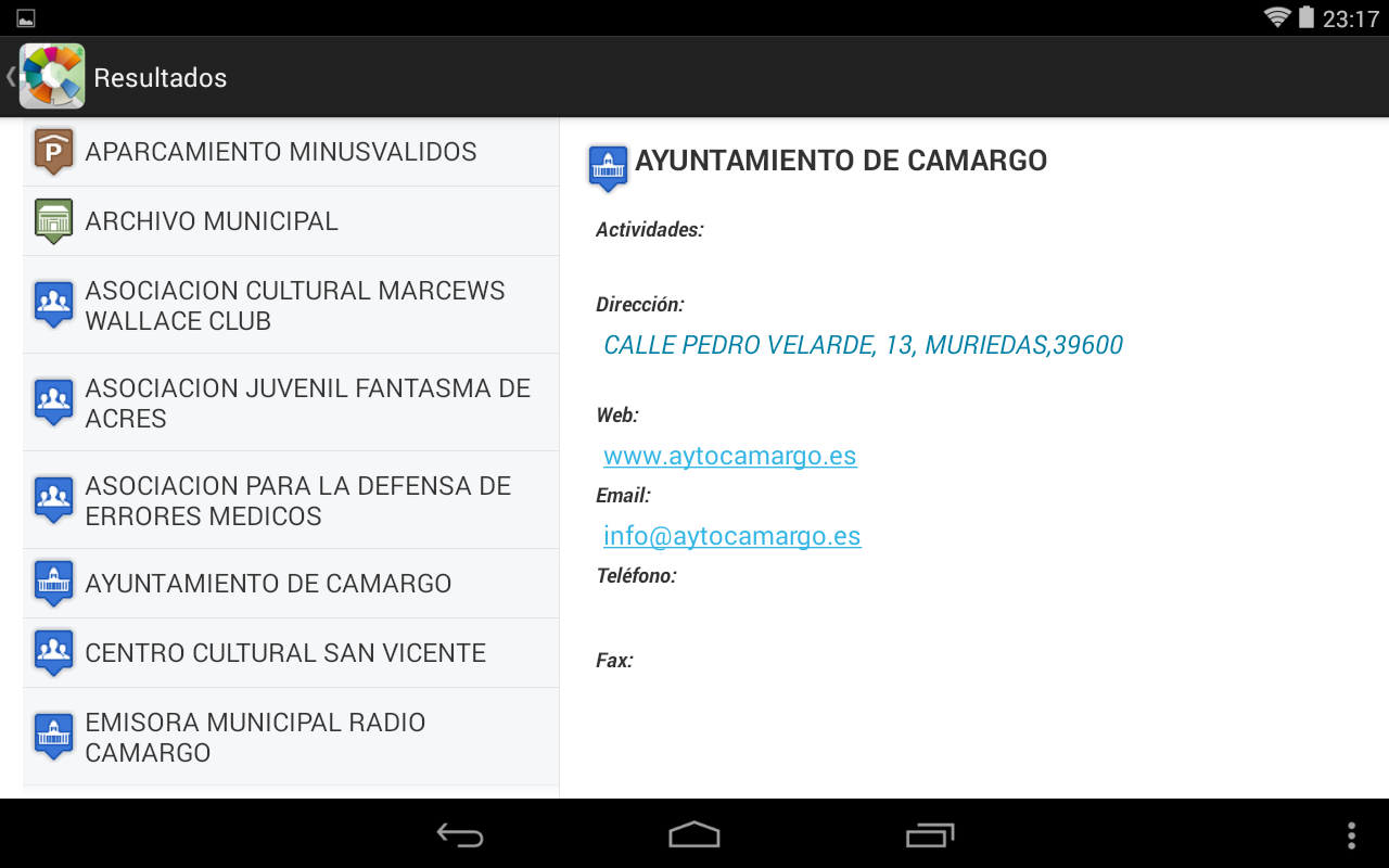 Camargo Datos Abiertos - Mapas- screenshot