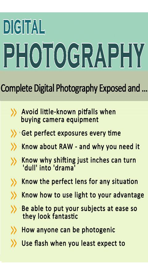 Digital Photograph  Tutorial - screenshot
