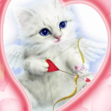 Blue Eyes Cat With Arrow Live logo
