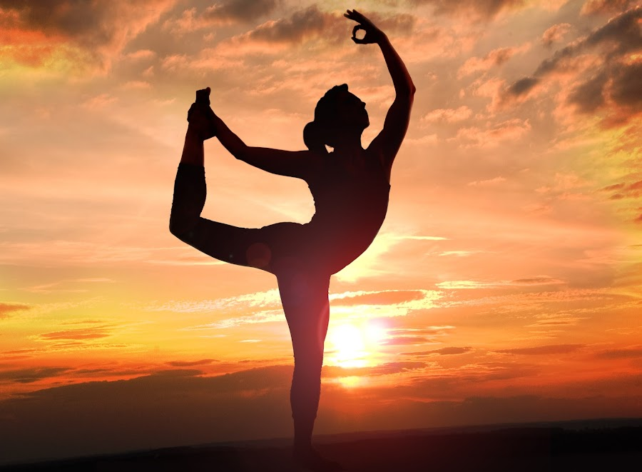 yoga pose by Shaheen Razzaq - Sports & Fitness Fitness ( pose, woman, sunset, silhouette, yoga,  )