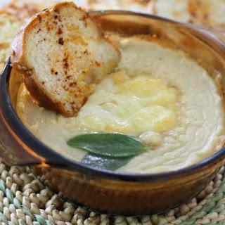 Cheesy White Bean Dip with Smoked Paprika Toasts.