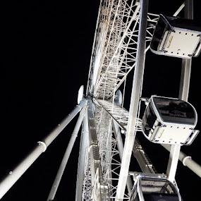 Niagara Falls - Sky Wheel by Dave Davenport - City,  Street & Park  Amusement Parks ( night shots, night photography, amusement park, amusement ride, amusement parks, ferris wheel )