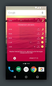 Detailed YR Weather Widget screenshot 4