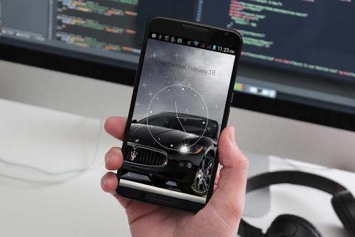 Dashing Black Car Analog Clock