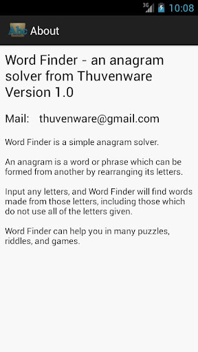 【免費解謎App】Word Finder - Anagram Solver-APP點子