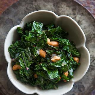 Sautéed Kale with Toasted Cashews.