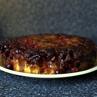 Upside-Down Cranberry-Caramel Cake