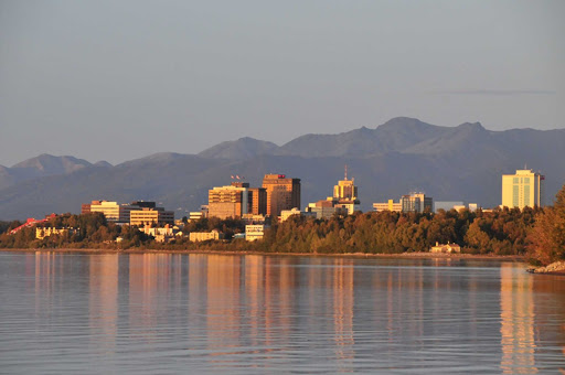 Anchorage-skyline-summer - Summer in Anchorage, Alaska.