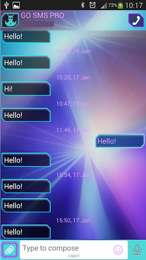 GO短信加强版氖激光