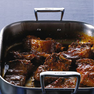 Orange-Soy-Braised Pork Ribs.