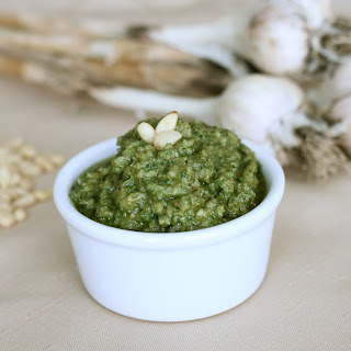 Fresh Basil and Asiago Pesto