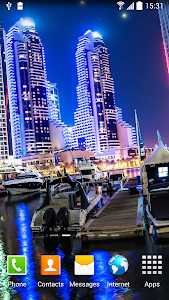 Dubai Night Live Wallpaper screenshot 1
