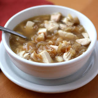 Caramelized Onion Chicken Soup.