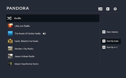 Pandora® Radio for Google TV screenshot