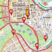 Luxembourg Amenities Map, free