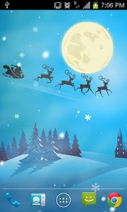 Flying Santa Live Wallpaper - screenshot thumbnail