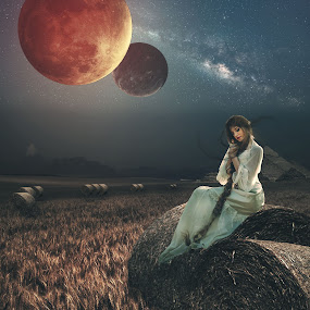 Hidden Place by Karazy Shooke - Digital Art Places ( milkyway, sky, girl, fantasi, dgital art, place )