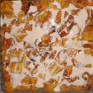 Pumpkin Bread Pudding with Maple Sauce
