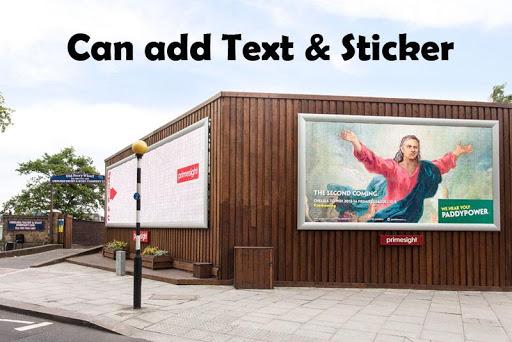 玩免費娛樂APP|下載照片上的广告牌框架文本 app不用錢|硬是要APP
