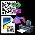 QRflyer design print QR flyer icon